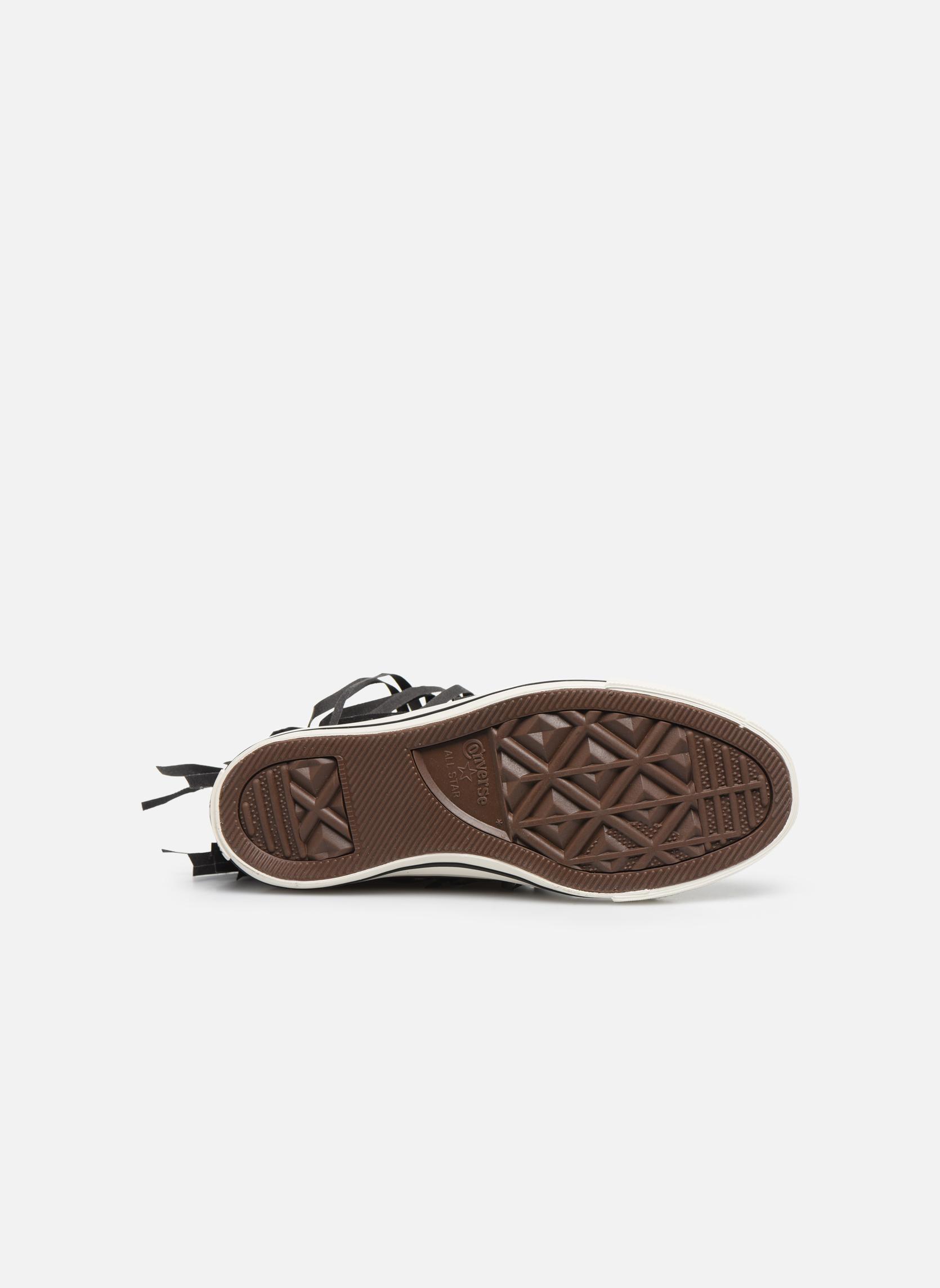 Sneaker Converse Chuck Taylor All Star Fringe Hi W schwarz ansicht von oben