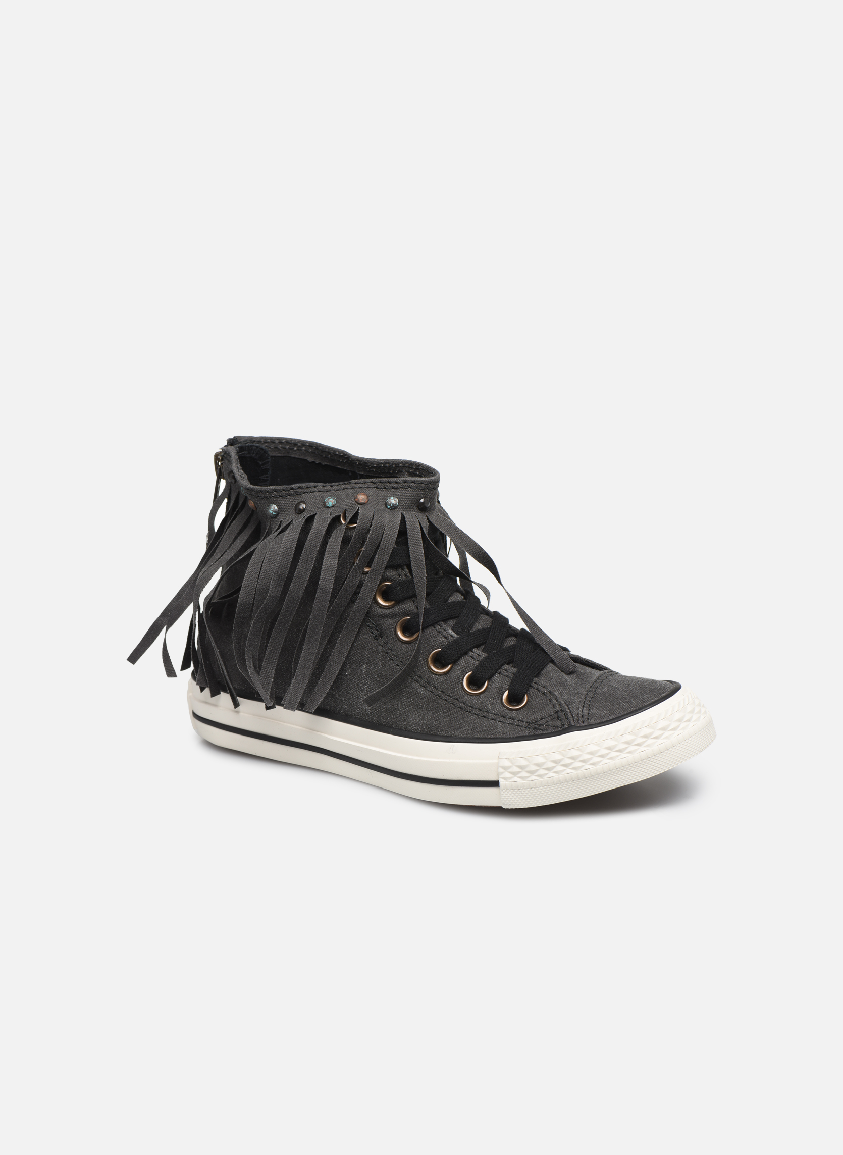 Sneaker Converse Chuck Taylor All Star Fringe Hi W schwarz detaillierte ansicht/modell