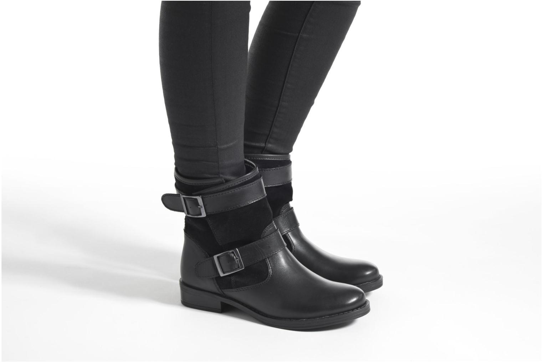 Bottines et boots Georgia Rose Celebi Noir vue bas / vue portée sac