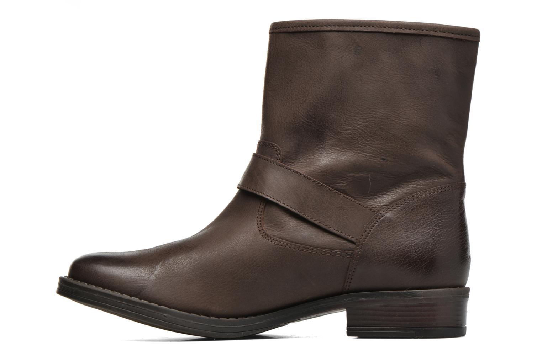 Bottines et boots Georgia Rose Celeste Marron vue face