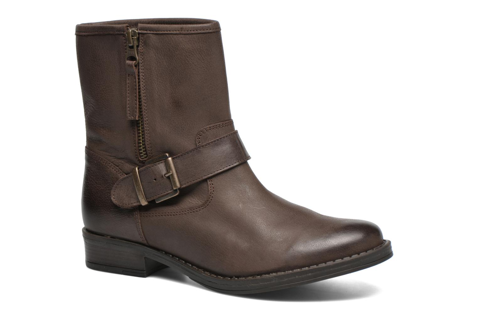 Ankle boots Georgia Rose Celeste Brown detailed view/ Pair view