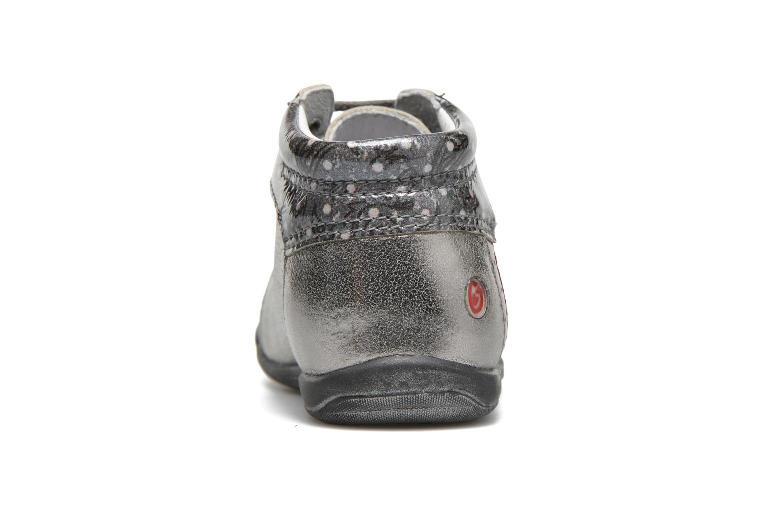 Zapatos con cordones GBB Nayana Gris vista lateral derecha