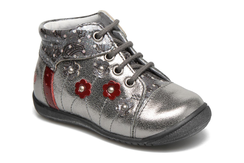 Zapatos con cordones GBB Nayana Gris vista de detalle / par
