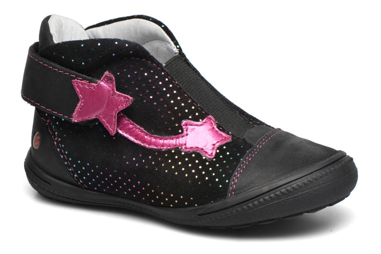 Chaussures à scratch GBB Nolween Noir vue détail/paire