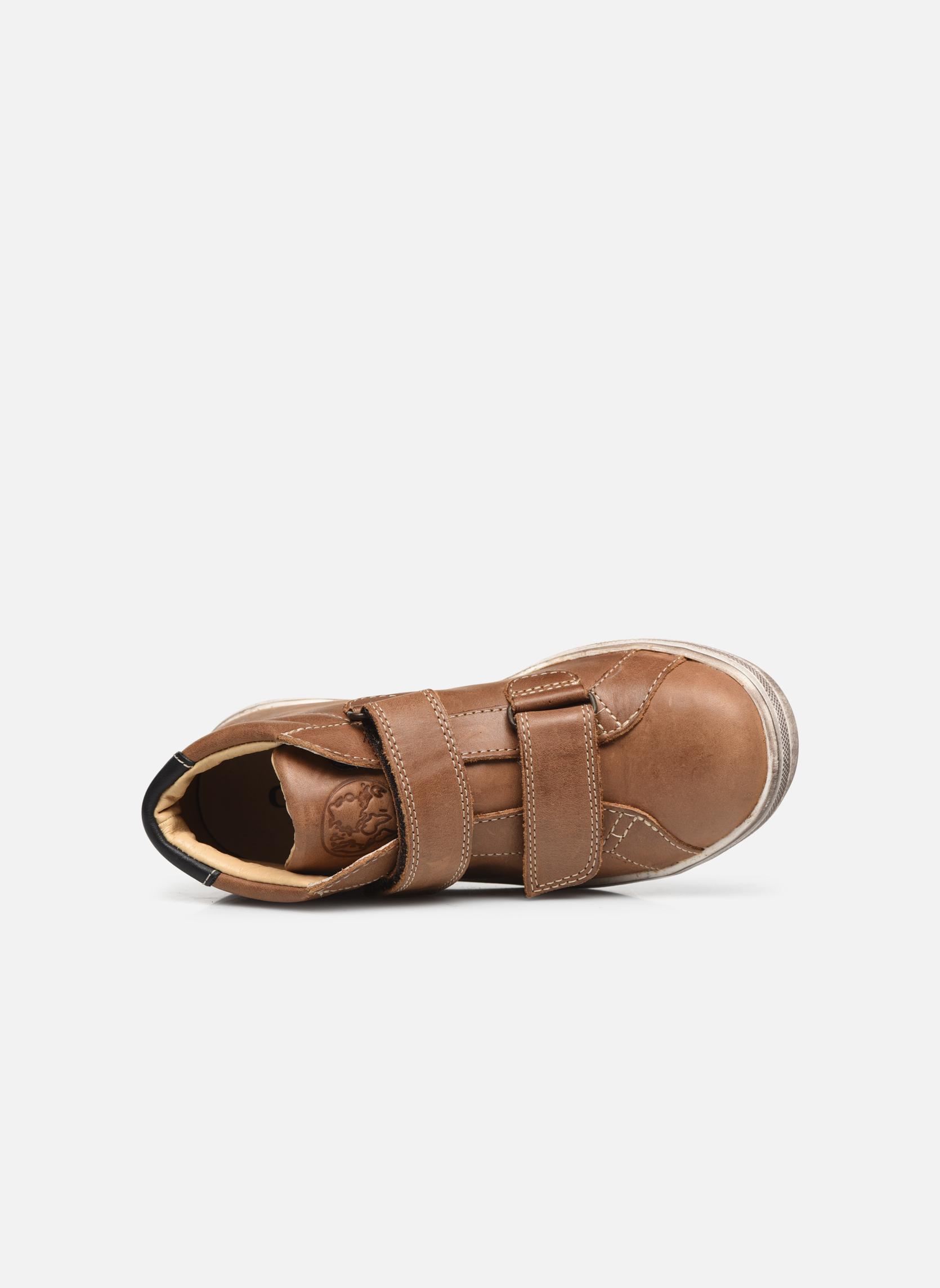 Sneaker GBB Nazaire braun ansicht von links