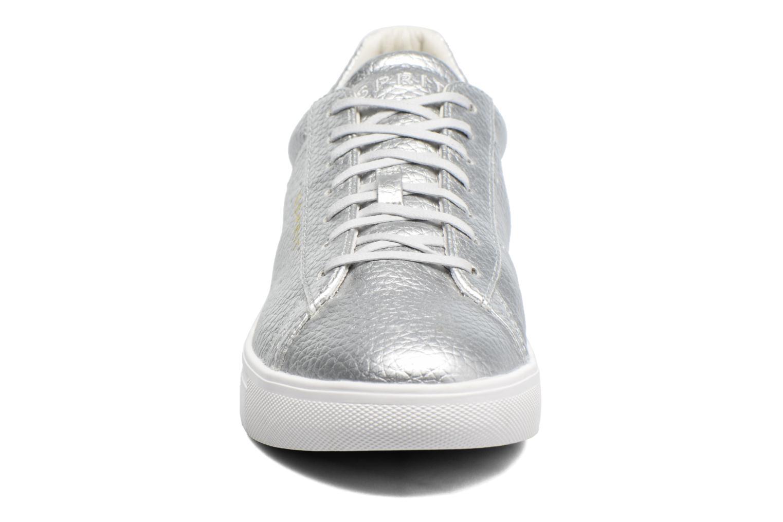 Sneaker Esprit Lizette Lace Up silber schuhe getragen