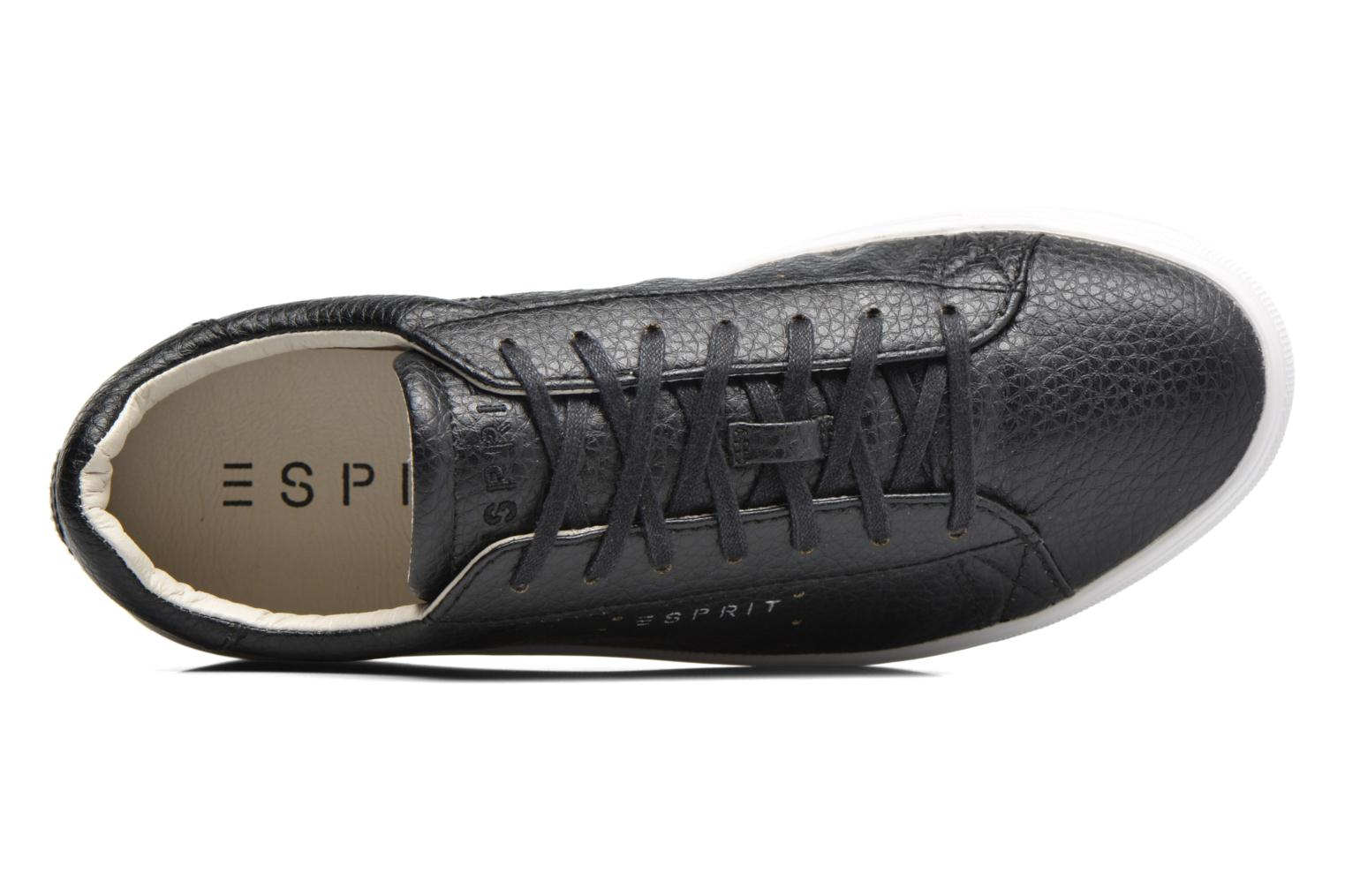 Trainers Esprit Lizette Lace Up Black view from the left