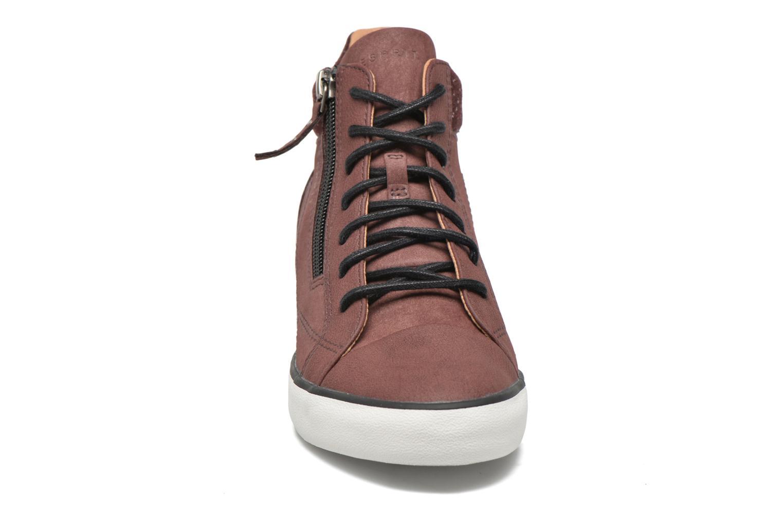 Sneaker Esprit Star Wedge 2 weinrot schuhe getragen
