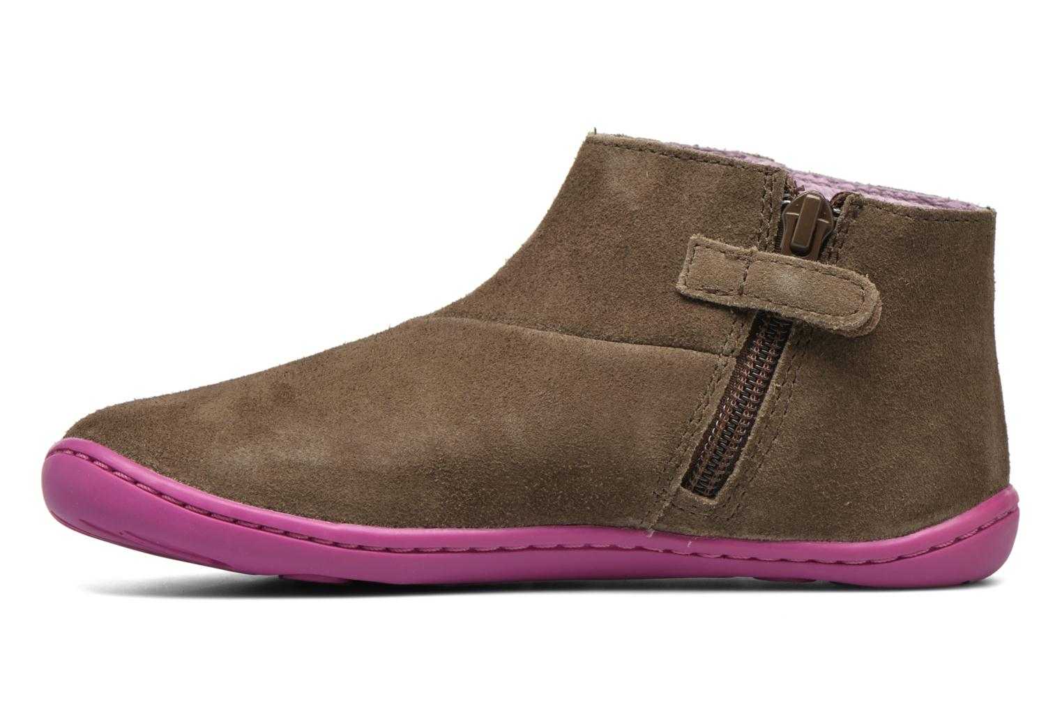 Ankle boots Camper Peu Cami 3 Brown front view