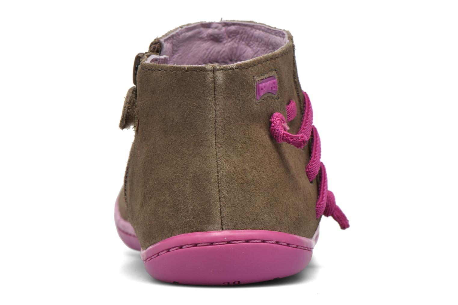 Ankle boots Camper Peu Cami 3 Brown view from the right