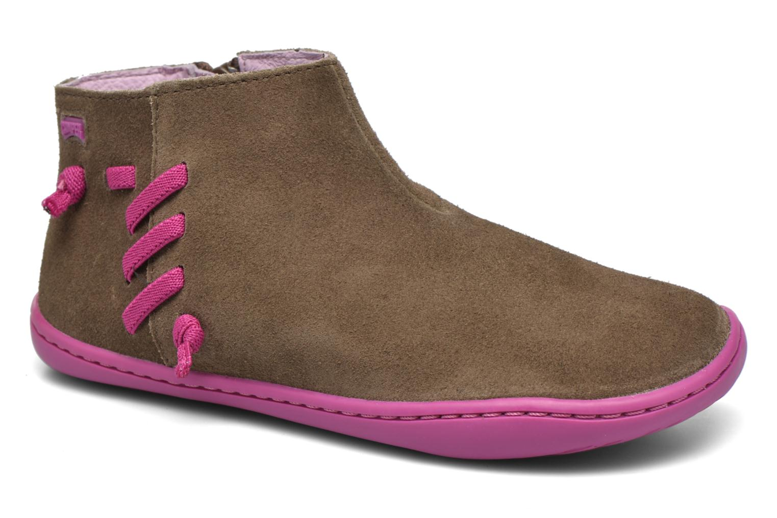 Ankle boots Camper Peu Cami 3 Brown detailed view/ Pair view