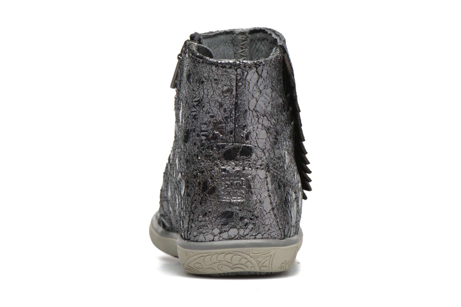 Ankle boots Noël Mini Amel Grey view from the right