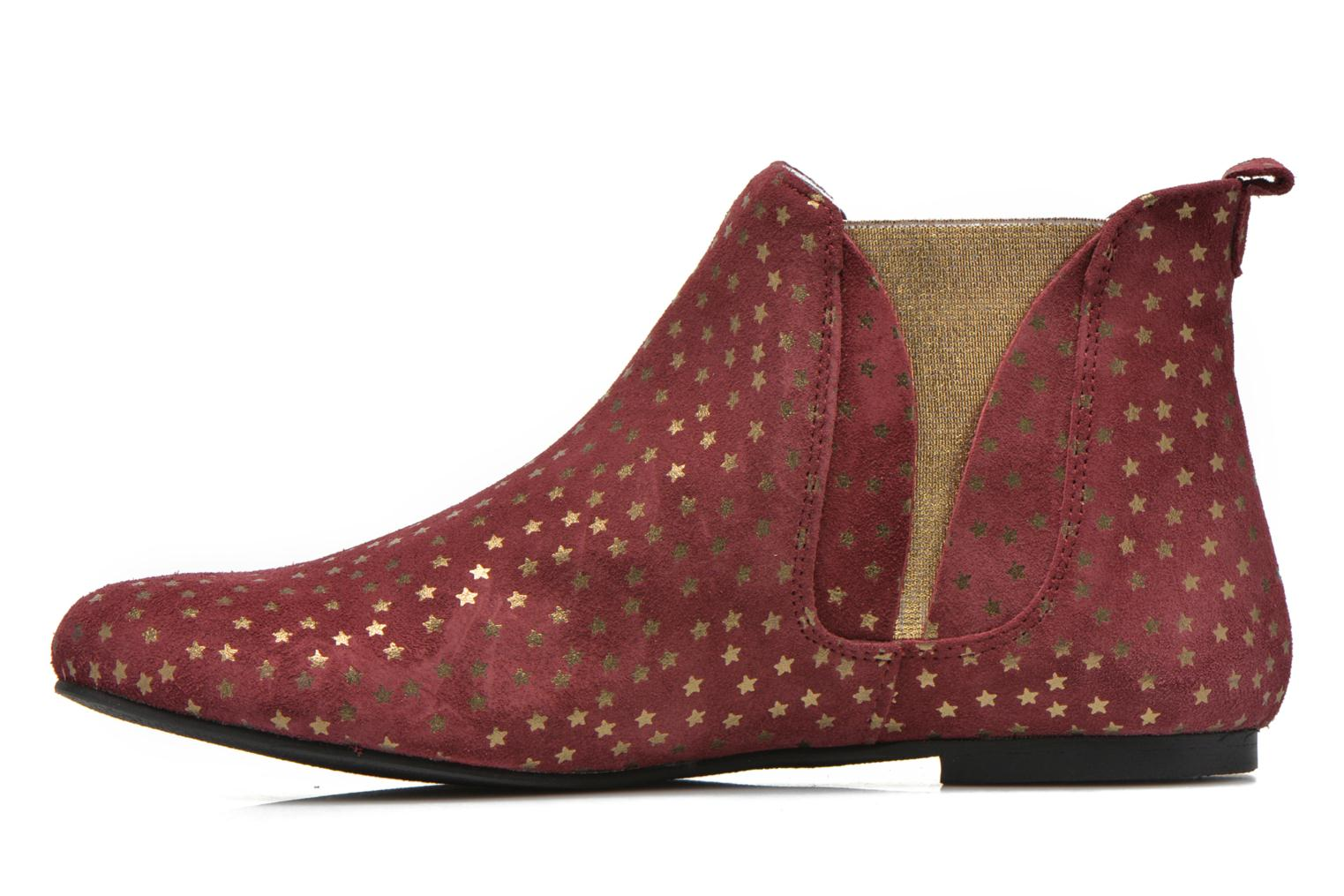 Ankle boots Ippon Vintage Patch gold Burgundy front view