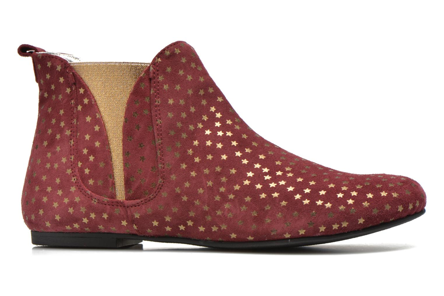 Ankle boots Ippon Vintage Patch gold Burgundy back view