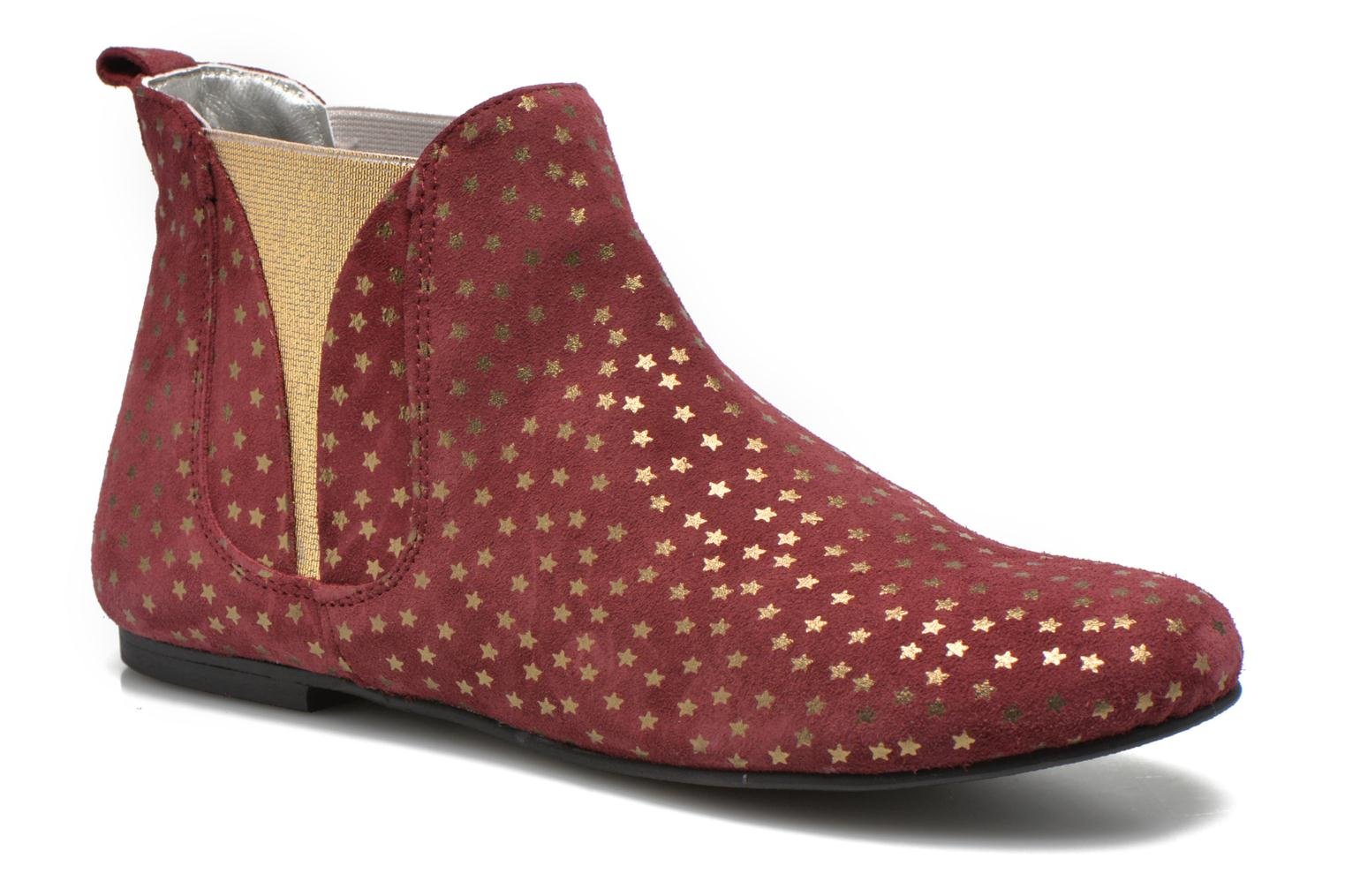 Ankle boots Ippon Vintage Patch gold Burgundy detailed view/ Pair view