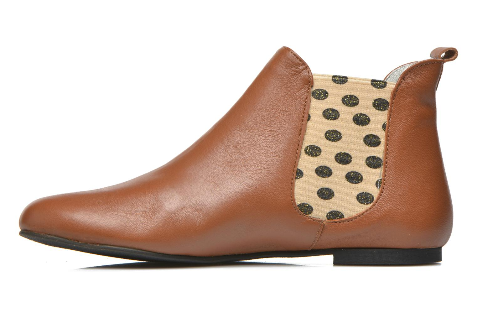 Ankle boots Ippon Vintage Sun Colors Brown front view