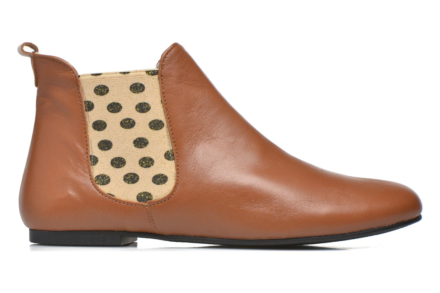 Ankle boots Ippon Vintage Sun Colors Brown back view