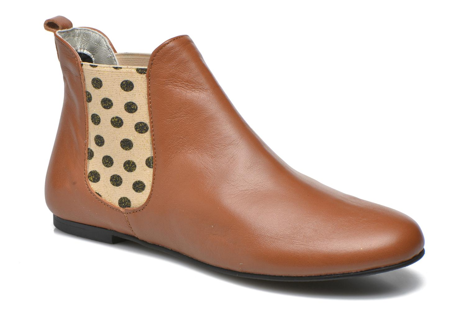 Ankle boots Ippon Vintage Sun Colors Brown detailed view/ Pair view