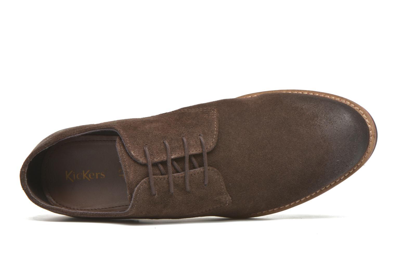 Zapatos con cordones Kickers Eldan Marrón vista lateral izquierda