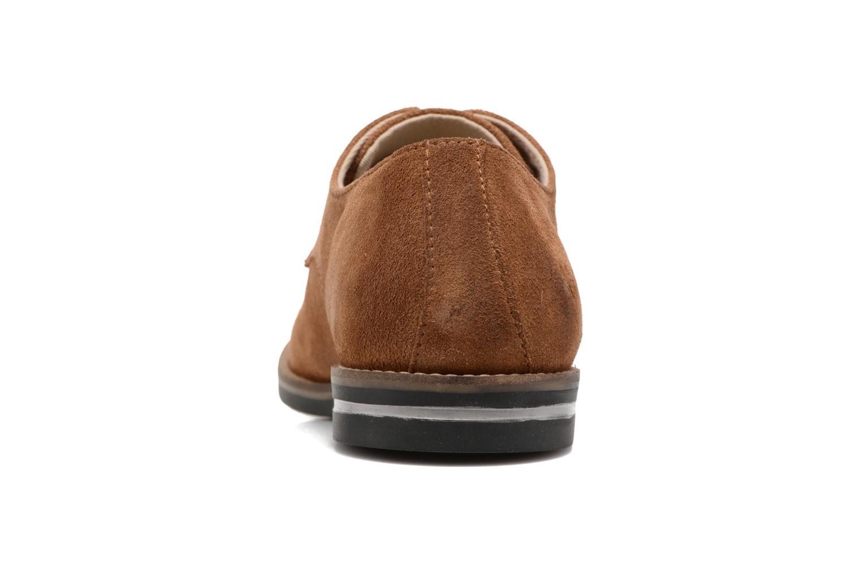 Zapatos con cordones Kickers Eldan Marrón vista lateral derecha