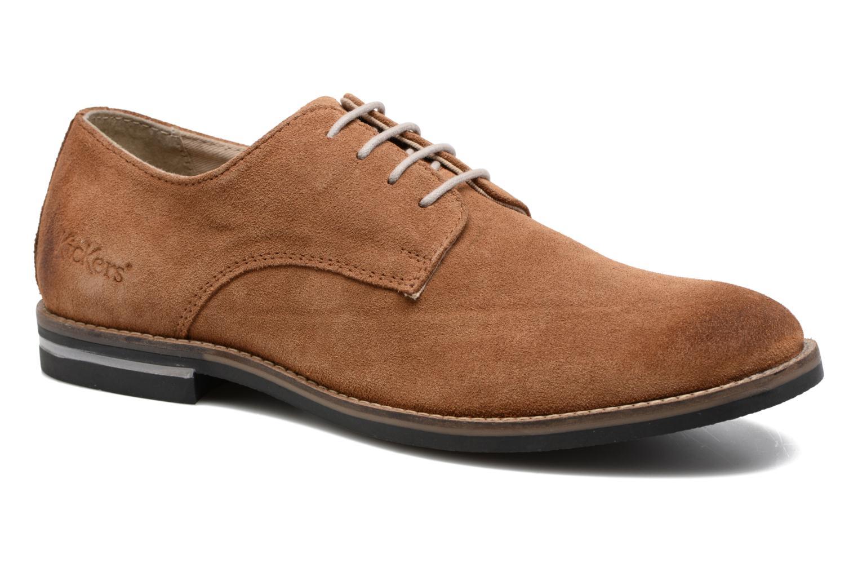 Zapatos con cordones Kickers Eldan Marrón vista de detalle / par