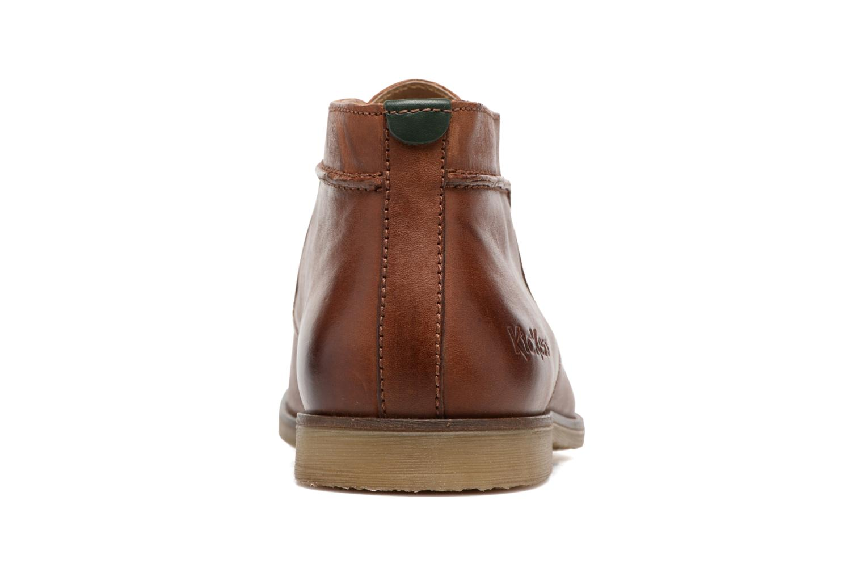 Chaussures à lacets Kickers Flaval Marron vue droite