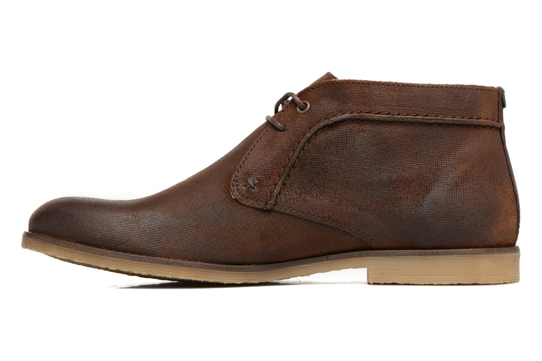 Chaussures à lacets Kickers Flaval Marron vue face