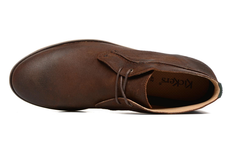 Chaussures à lacets Kickers Flaval Marron vue gauche