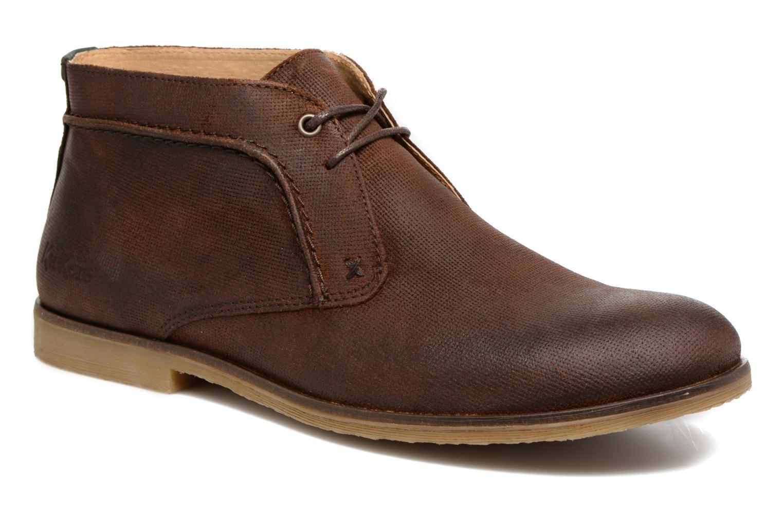 Chaussures à lacets Kickers Flaval Marron vue détail/paire