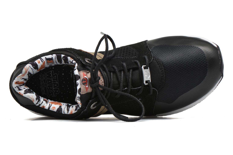 Sneaker Kickers Lightrfinn schwarz ansicht von links