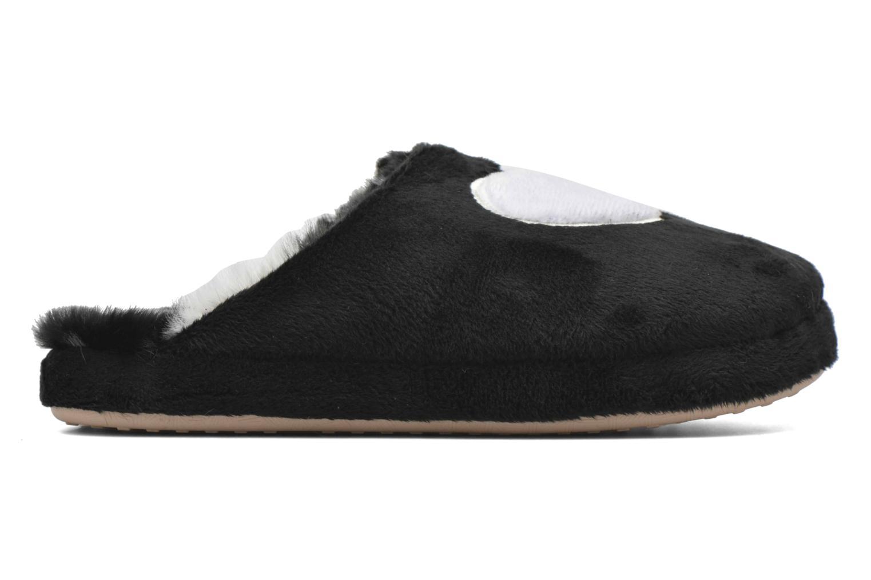Slippers Esprit Doni Big Heart Black back view