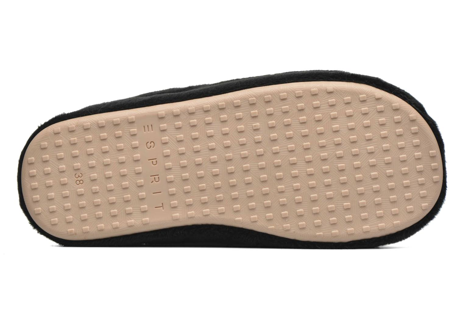 Slippers Esprit Doni Big Heart Black view from above
