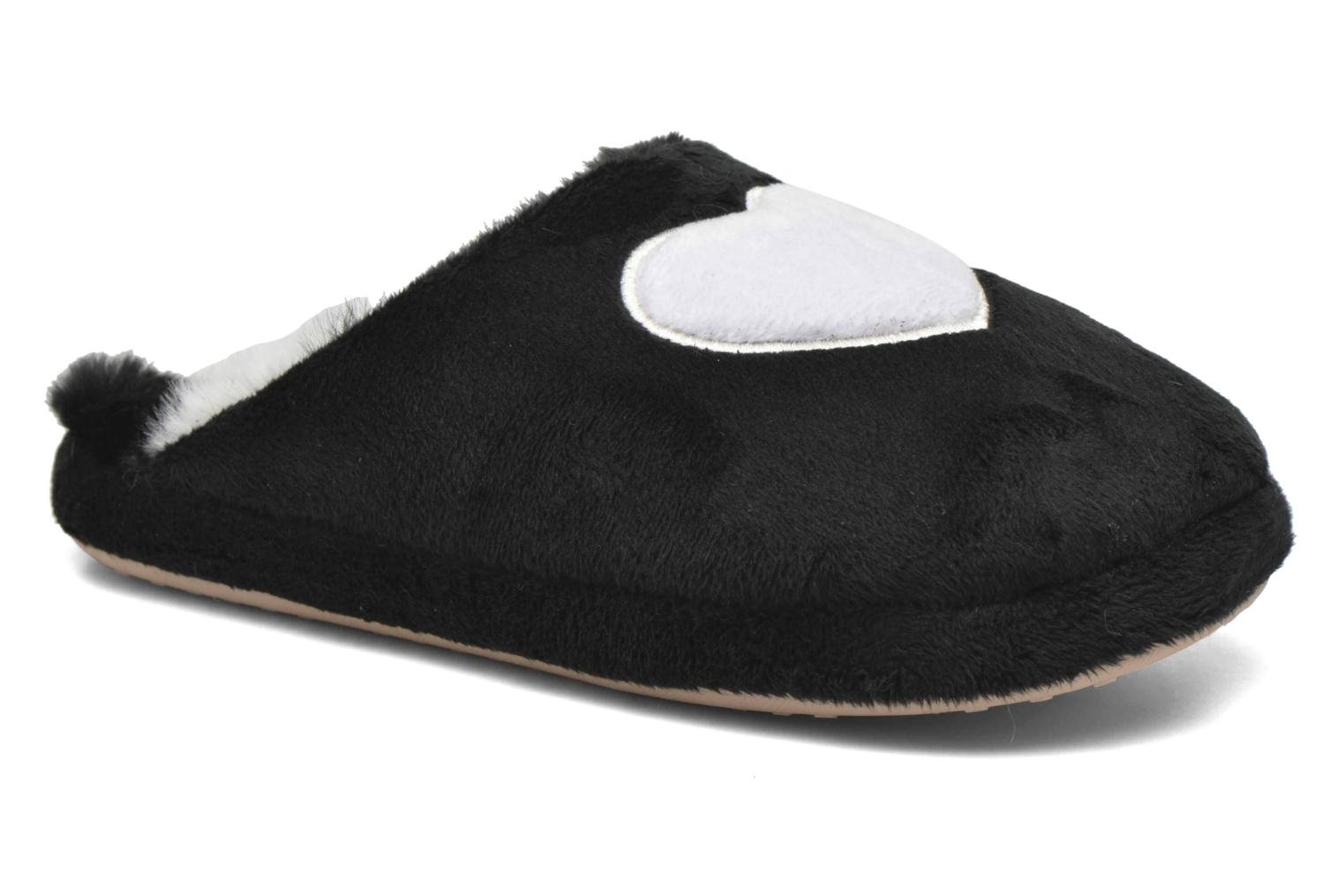 Slippers Esprit Doni Big Heart Black detailed view/ Pair view