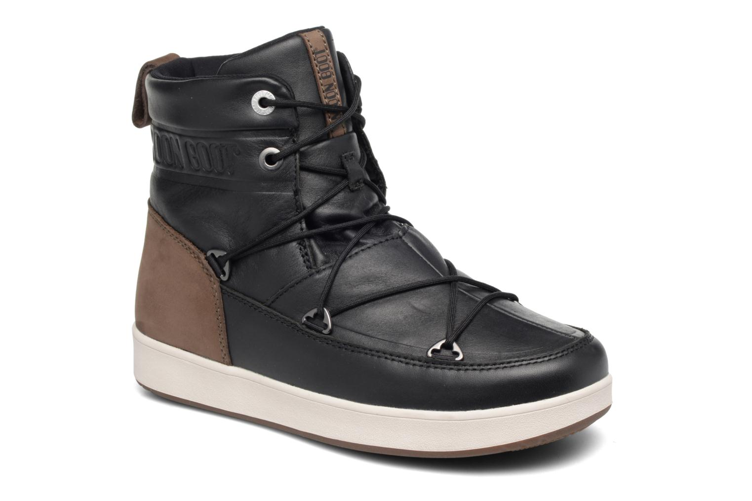 Sport shoes Moon Boot Neil Lux Black detailed view/ Pair view