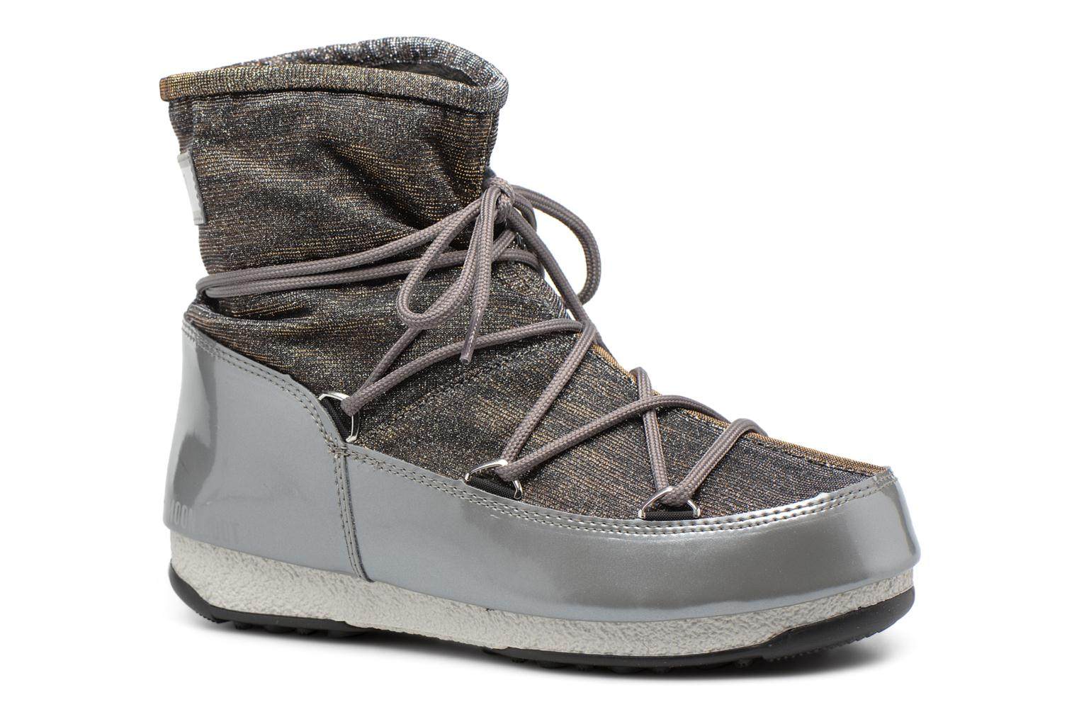 Chaussures de sport Moon Boot We Low Lurex Gris vue détail/paire