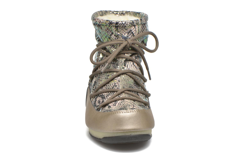Chaussures de sport Moon Boot Low Snake Vert vue portées chaussures