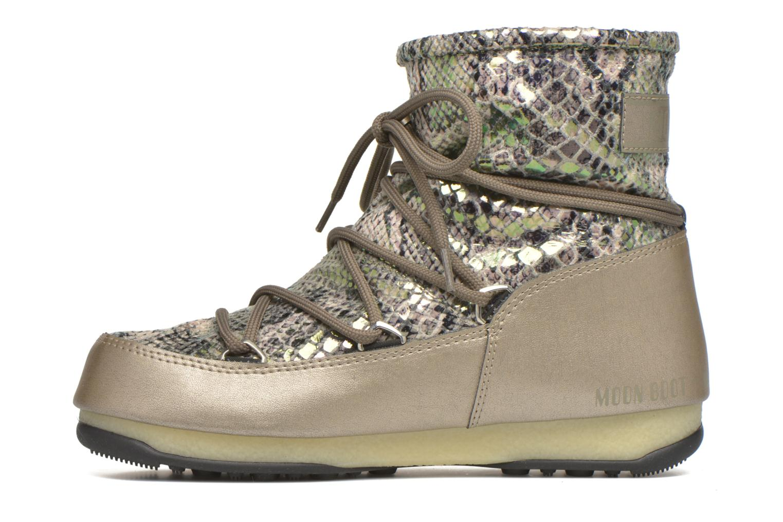 Chaussures de sport Moon Boot Low Snake Vert vue face