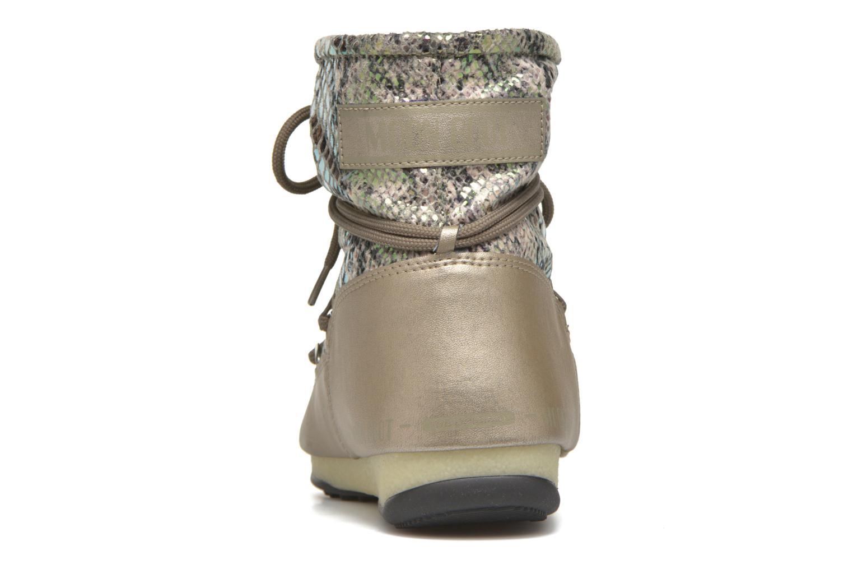 Chaussures de sport Moon Boot Low Snake Vert vue droite