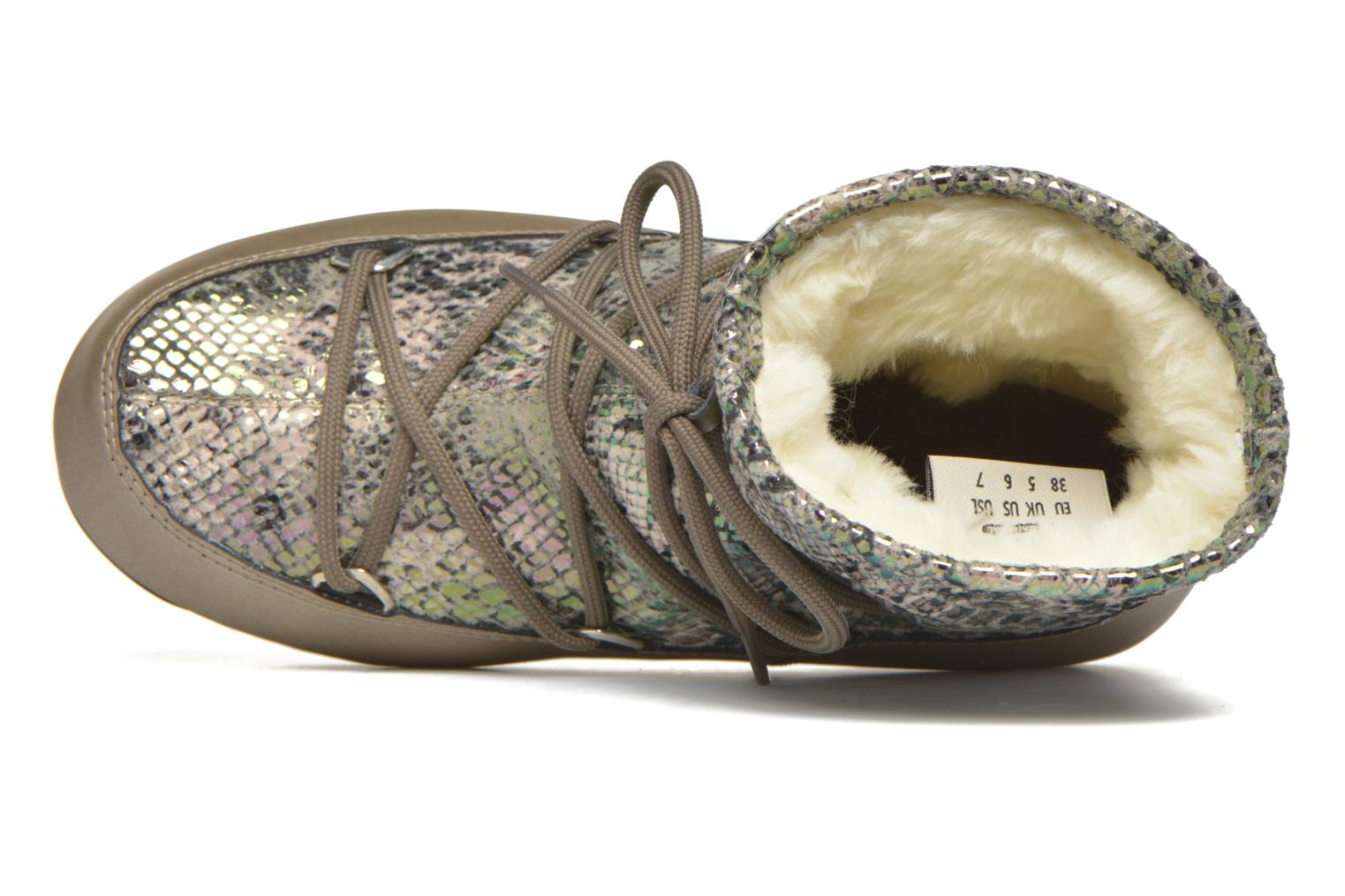 Sport shoes Moon Boot Low Snake Green view from the left