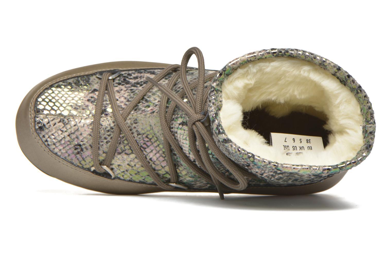 Chaussures de sport Moon Boot Low Snake Vert vue gauche