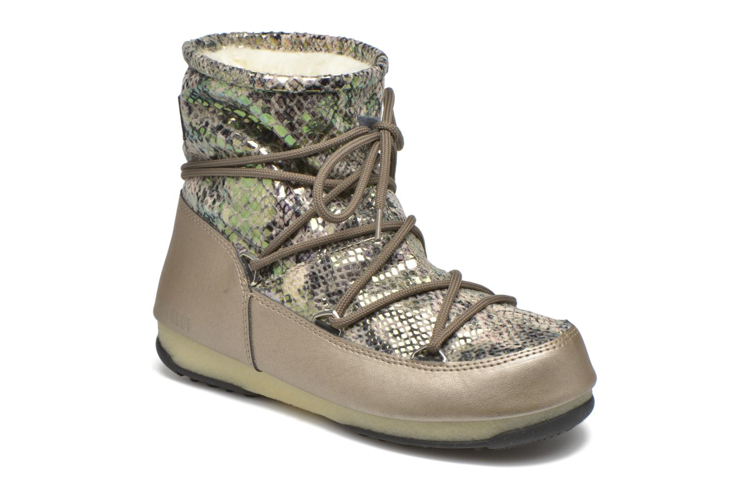 Sport shoes Moon Boot Low Snake Green detailed view/ Pair view