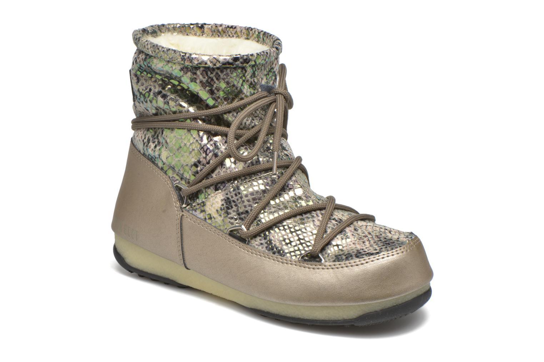 Chaussures de sport Moon Boot Low Snake Vert vue détail/paire