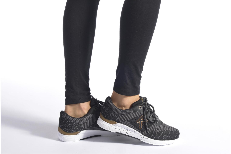 Baskets Kickers Knitwear F Noir vue bas / vue portée sac