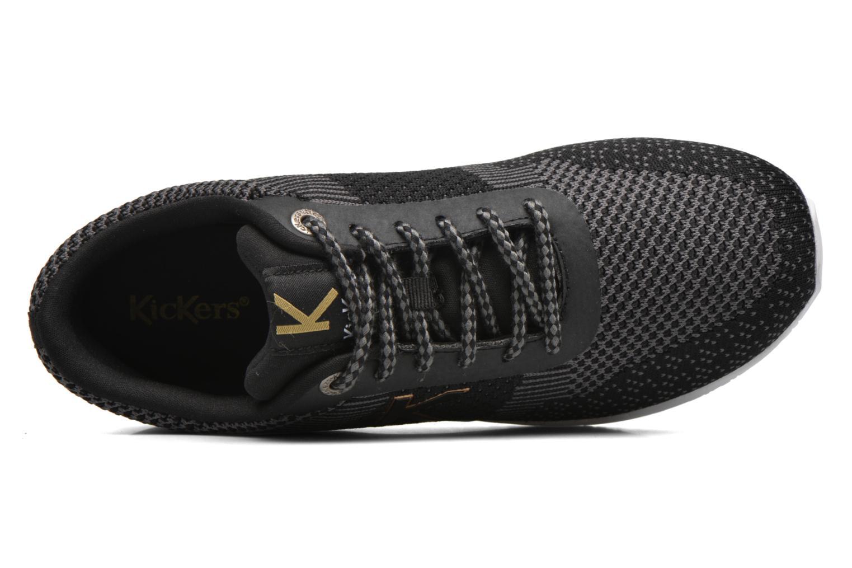 Baskets Kickers Knitwear F Noir vue gauche
