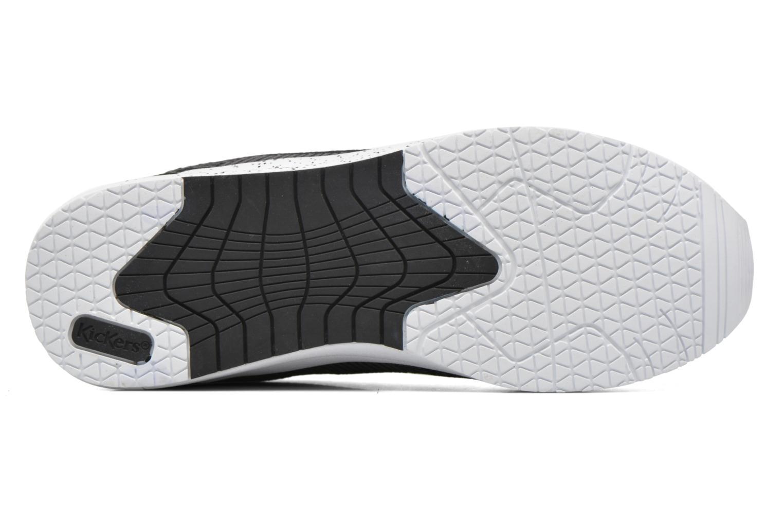 Baskets Kickers Knitwear F Noir vue haut