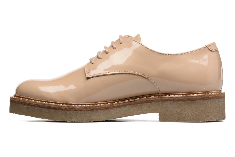Chaussures à lacets Kickers Oxfork Beige vue face