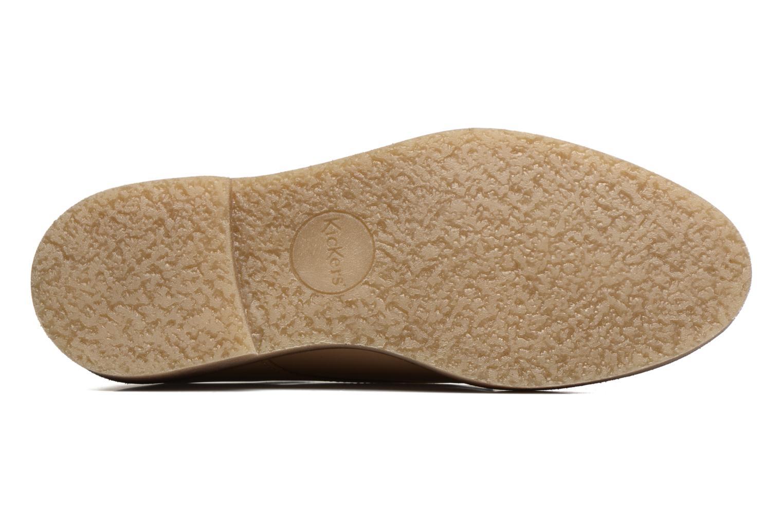 Chaussures à lacets Kickers Oxfork Beige vue haut