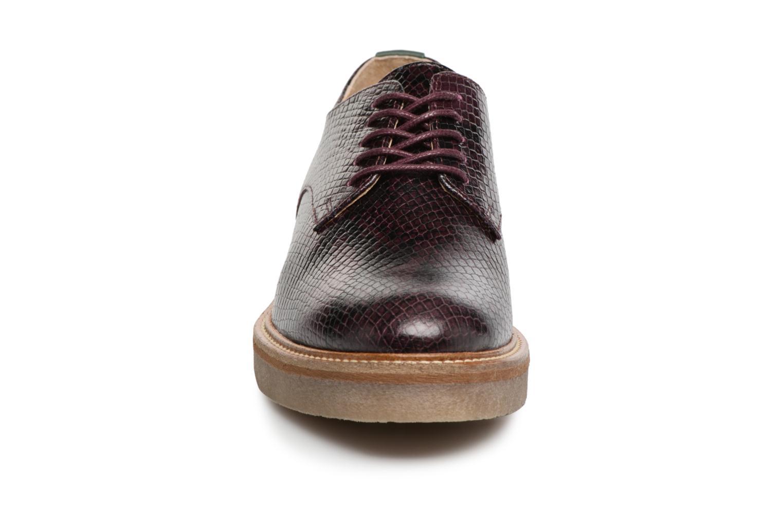 Chaussures à lacets Kickers Oxfork Violet vue portées chaussures