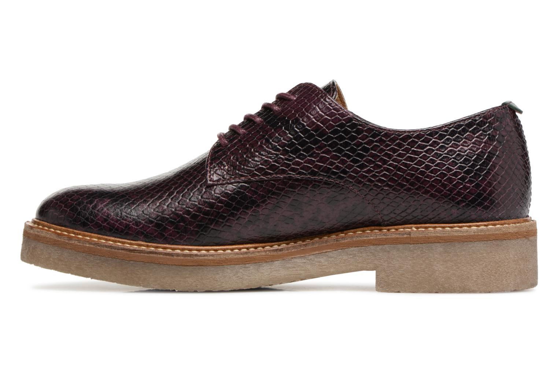 Chaussures à lacets Kickers Oxfork Violet vue face
