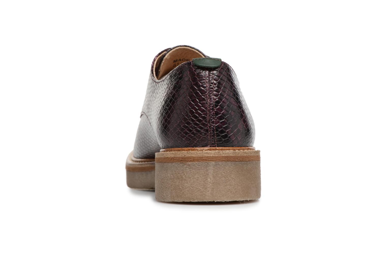 Chaussures à lacets Kickers Oxfork Violet vue droite